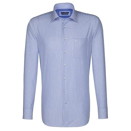 Seidensticker Businesshemd Blau/Weiß 40 cm (15.75