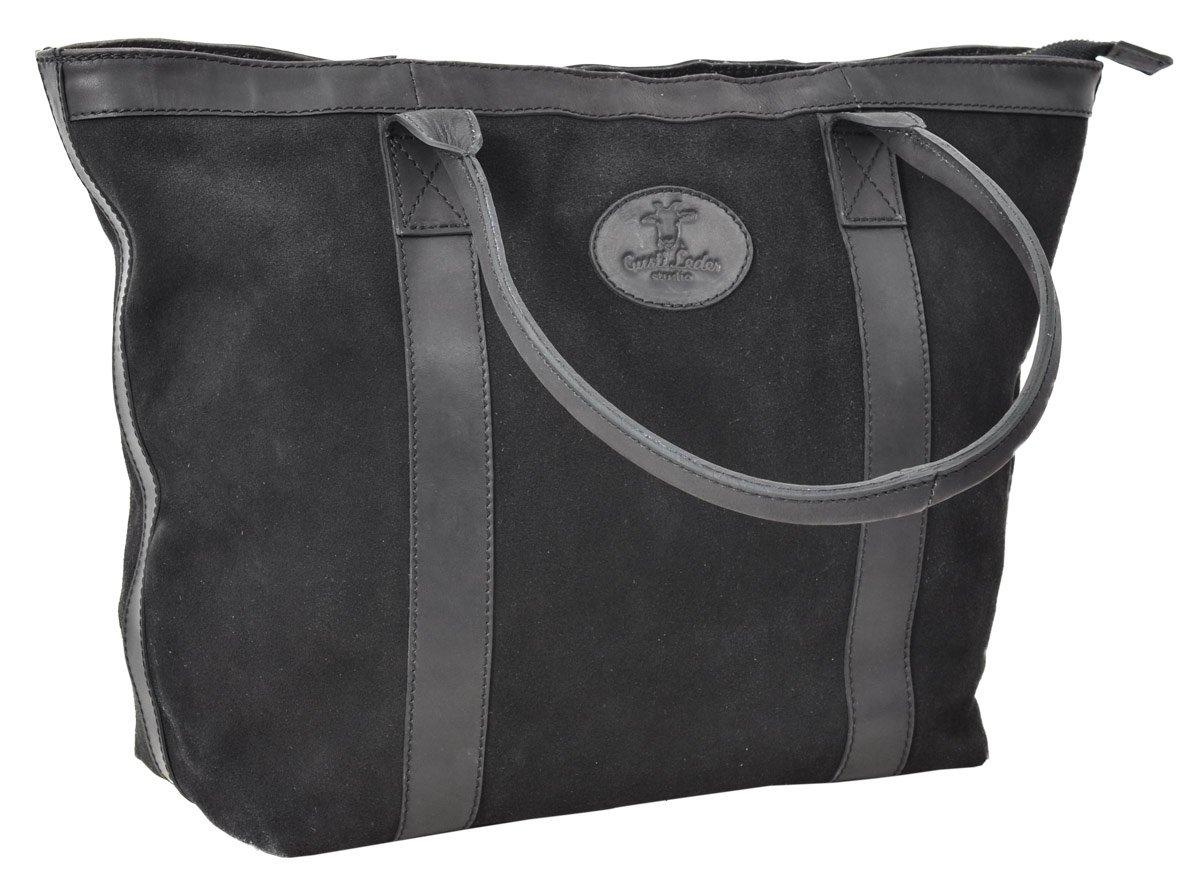 Sac cabas - Gusti Leder studio Farina sac à main vintage sac shopping rétro sac en bandoulière homme femme cuir de buffle noir 2M60-29-14