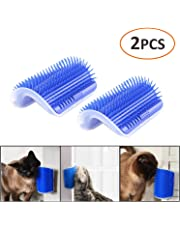 iMapo 2 Pack Cat Self Groomer, Cat Corner Groomer, Wall Corner Massage Comb, Pet Grooming Brush, Perfect Massager Tool for Cats with Long and Short Fur - Blue
