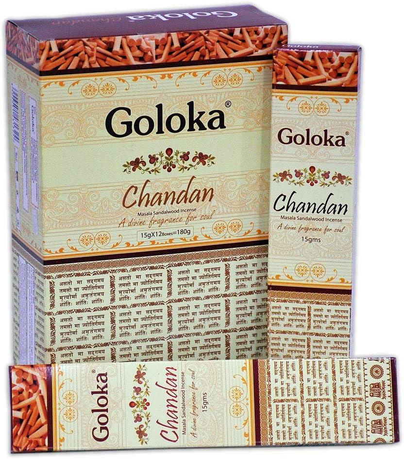 GOLOKA McGuinness - Varitas de Incienso (12 Unidades)