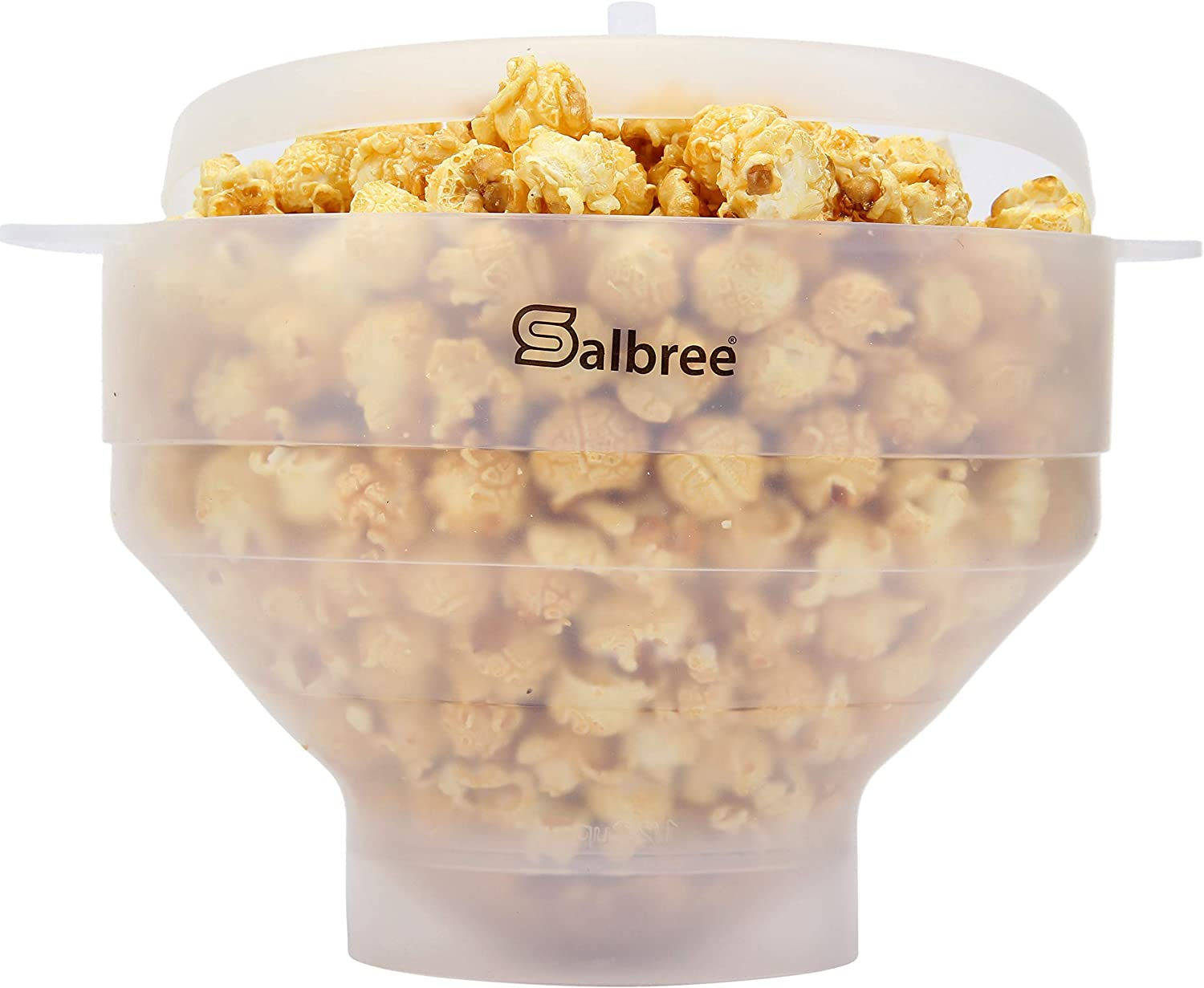 Original Salbree Microwave Popcorn Popper, Silicone Popcorn Maker, Collapsible Bowl - The Most Colors Available (Transparent)