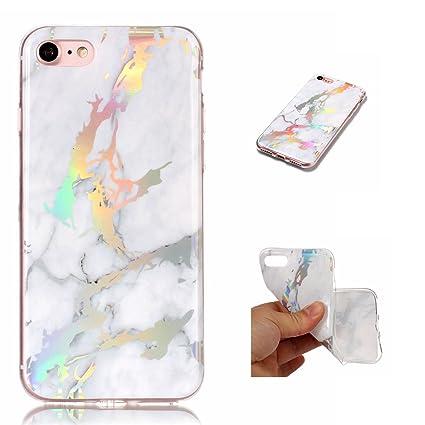 WindTeco Funda iPhone 7 Mármol, Carcasa iPhone 8, Ultra Fina Funda de Silicona Suave Case Cover Protección Cáscara Soft Gel TPU Carcasa Funda para ...