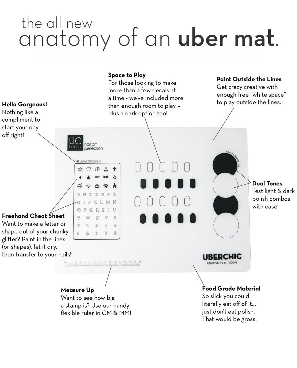 Amazon.com: Uber Mat: Nail Art Mat by UberChic Beauty: Beauty