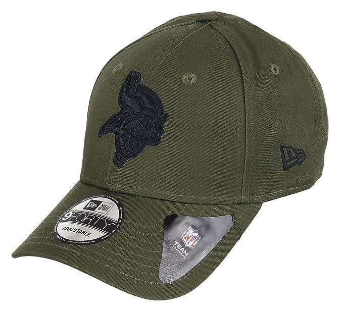 157a227bc782 New Era Minnesota Vikings 9forty Adjustable Cap NFL Olive Pack Olive -  One-Size  Amazon.fr  Vêtements et accessoires