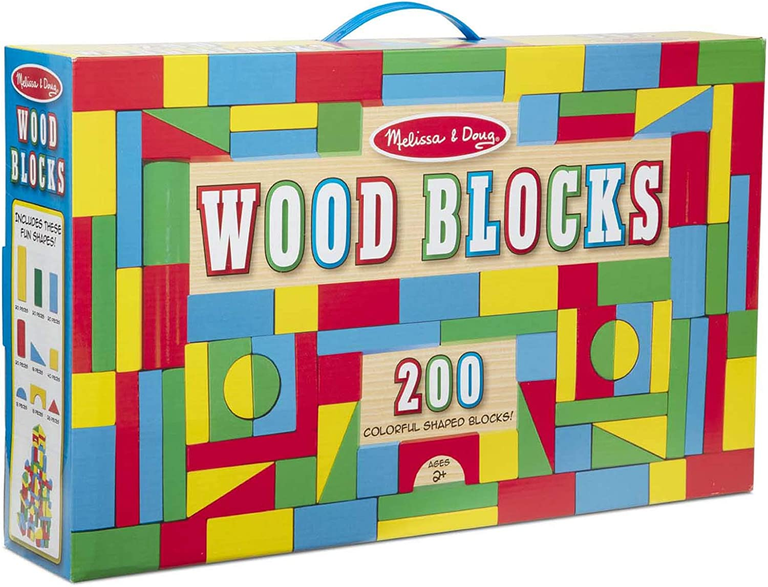 Melissa & Doug 200 Wood Block Set