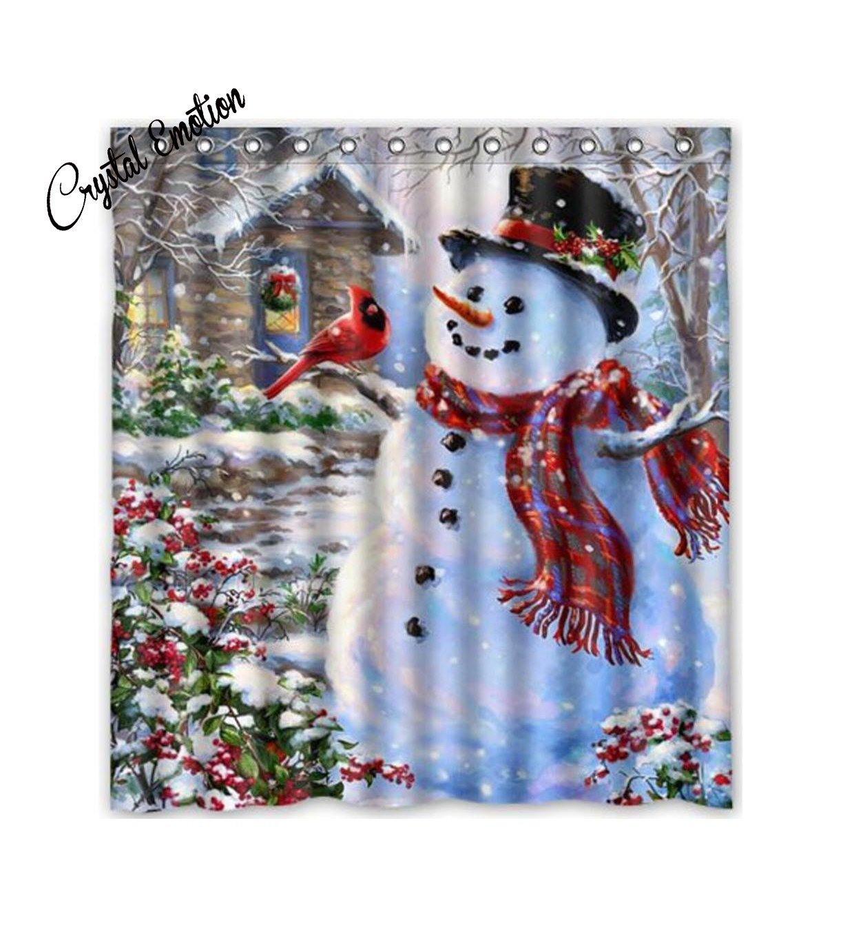 Amazon.com: Winter Holiday Merry Christmas Happy Snowman and ...