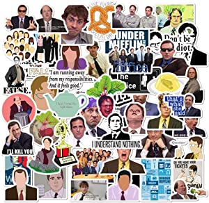 The Office Stickers 50 Pack Decals Office Funny Merchandise Poster Sticker for Laptops Computers Office Sticekrs