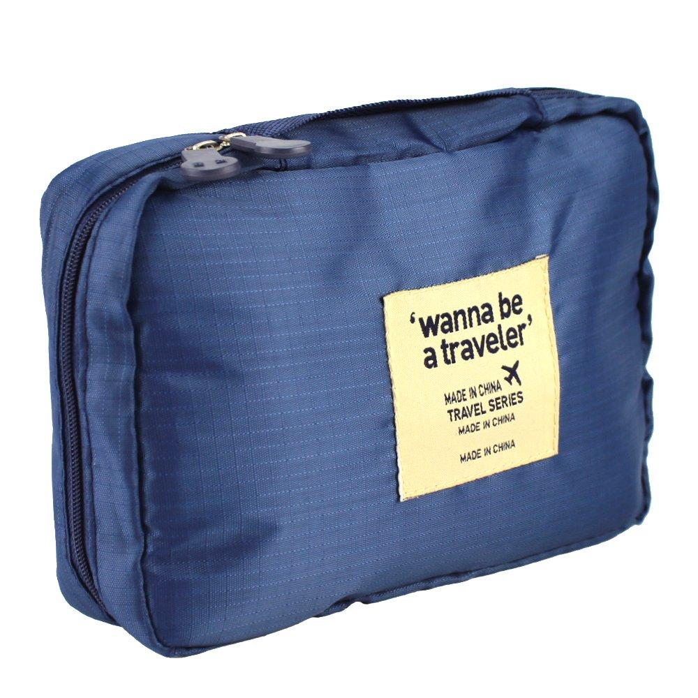 Amazon.com   Camping Travel Hanging Toiletry Organizer Wash Organizer Bag  Makeup Waterproof Case Cosmetic Grooming (Dark Blue)   Beauty 2bb0bd7dcb912