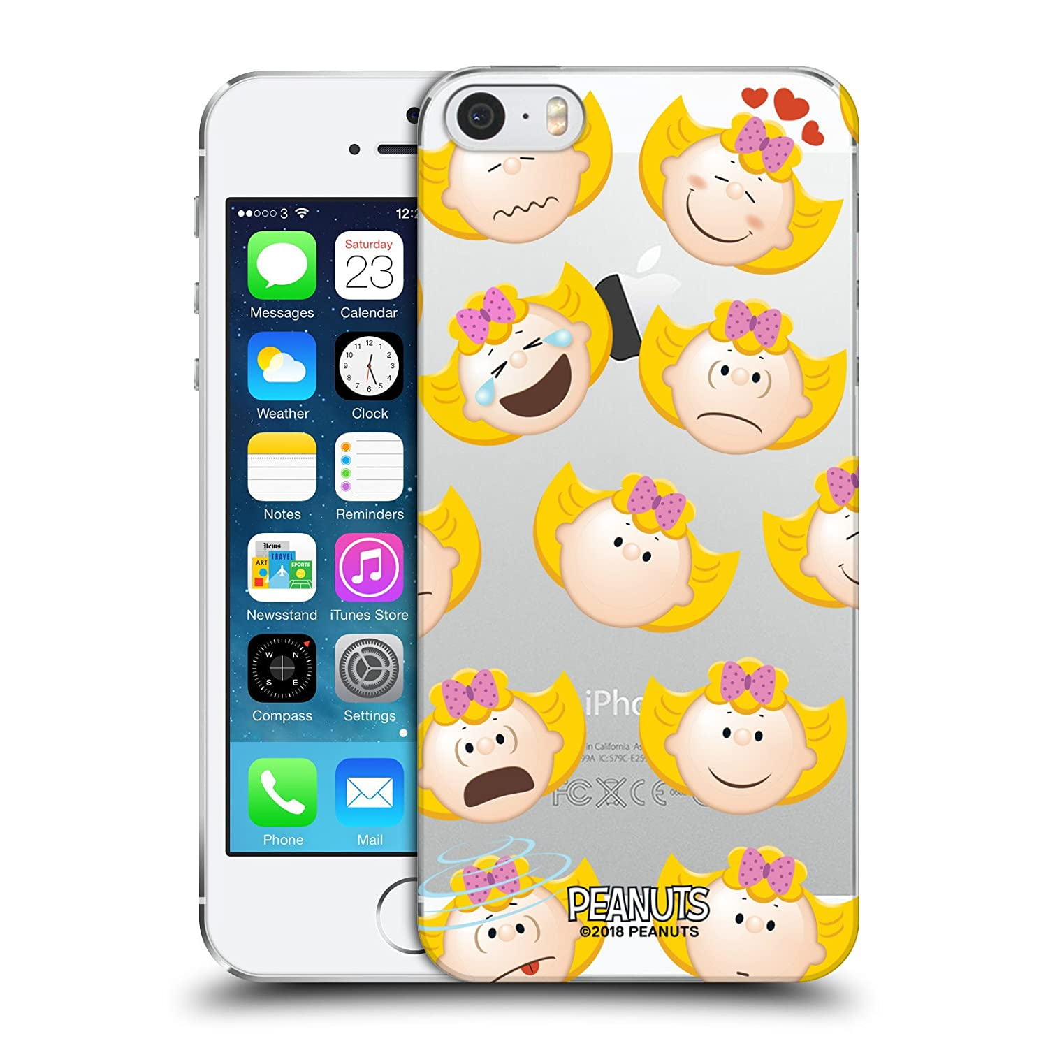 Official Peanuts Sally Brown Character Patterns Hard Back Case for iPhone 5 iPhone 5s iPhone SE