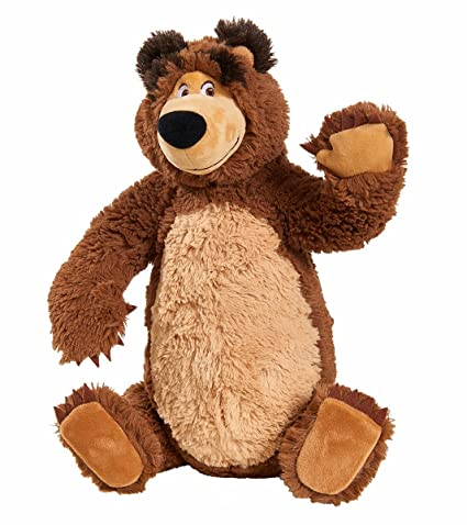Simba 109309893 Mascha and Plush Bear with Poseable Legs 43 cm
