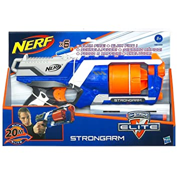 nerf strongarm  : Nerf N-Strike Elite Strongarm Double Your Darts Blaster ...