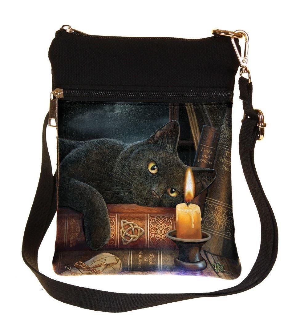 L'ora di stregoneria - Gatto con la borsa a spalla della candela Multicolours - Fantasy - Nemesis Now