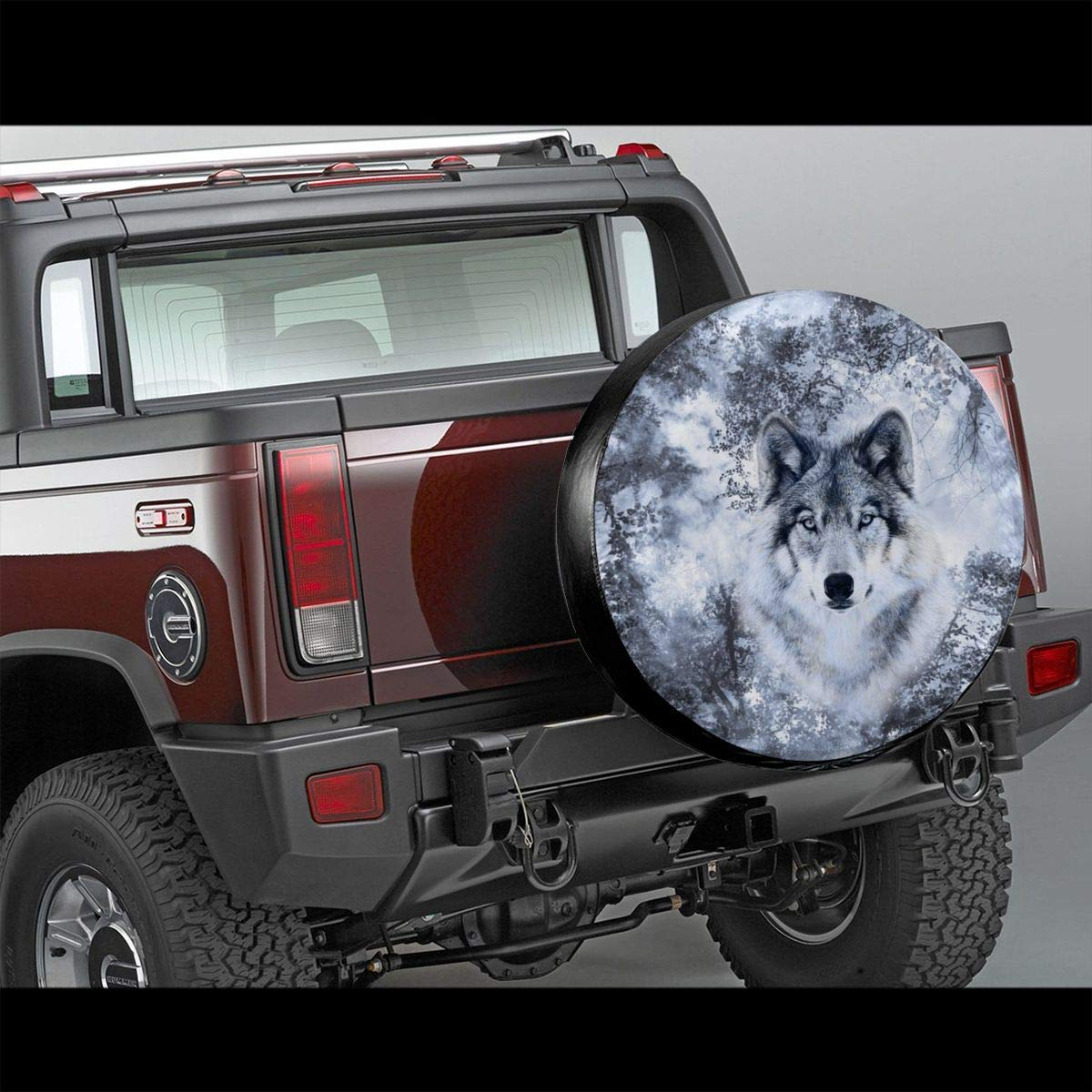 best/& Tire Cover Wolf Trees Potable Polyester Universal Spare Wheel Tire Cover Wheel Covers Jeep Trailer RV SUV Truck Camper Travel Trailer Accessories 16 in