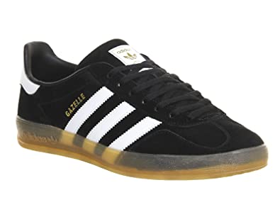 adidas Gazelle Indoor, Sneakers Basses Homme - Multicolore - Negro/Blanco, 36 2