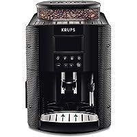 Krups EA8150 volautomatische espressomachine met groot LCD-scherm.