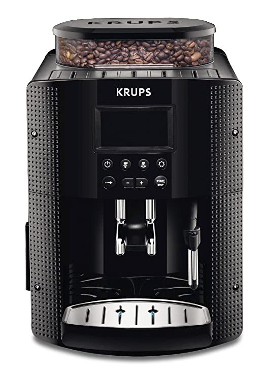Krups EA815070 - Cafetera Automática 15 Bares de Presión, Pantalla LCD, 3 Niveles de Intensidad, Ajustable de 20 ml a 220 ml, Programa Automático de ...