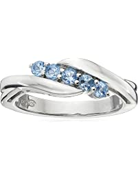 Sterling Silver Five-Stone Gemstone Ring