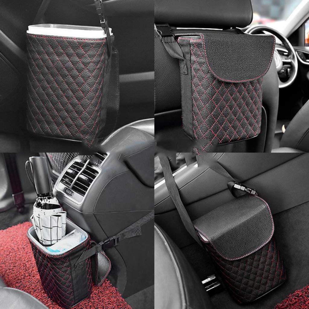 MagiDeal Car Garbage Can//Organizer Sturdy Auto Trash Bag red Car Trash Can Luxury 100/% Leakproof Car Trash Bin Perfect For Car Seat Headrest Or Car Floor