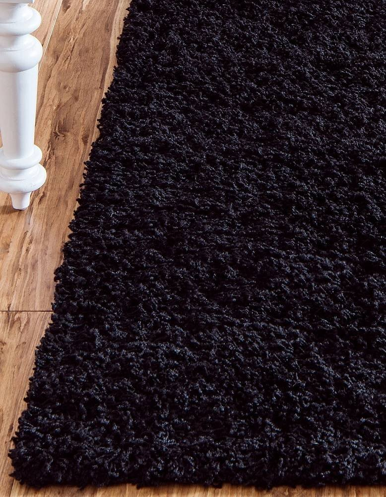 Unique Loom Solo Solid Shag Collection Modern Plush Jet Black Rectangle (5' x 8') by Unique Loom (Image #18)