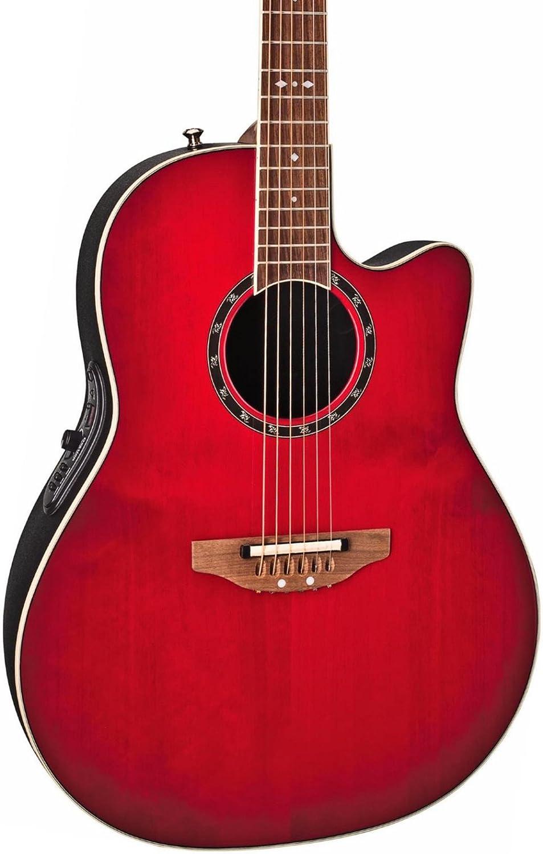Ovation オベーション スタンダード Balladeer 2771AX Acoustic-electric Guitar, Cherry Cherry Burst アコースティックギター アコギ ギター (並行輸入) B002CQ02QM