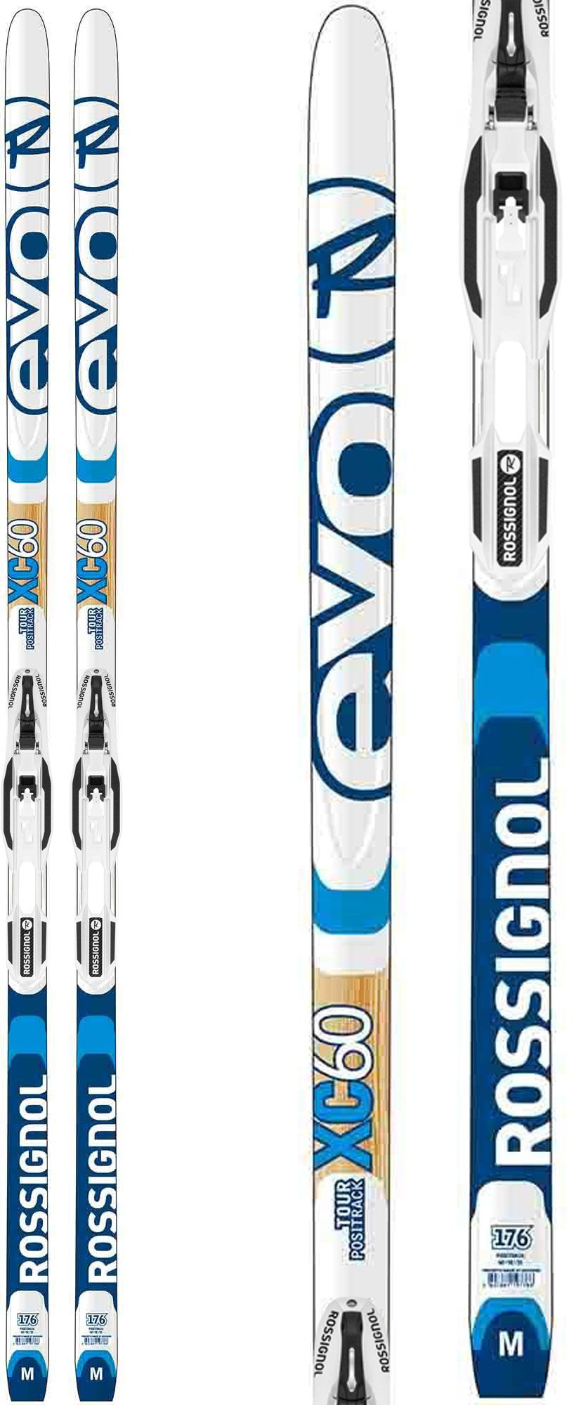 Rossignol Evo Tour 60 IFP Positrack XC Skis w/Control Step in Bindings Sz 186cm by Rossignol