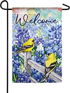 Field of Bluebonnets Garden Suede Flag - 13 x 1 x 18 Inches