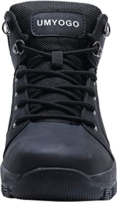 UMYOGO Mens Leather Snow Boots Ankle