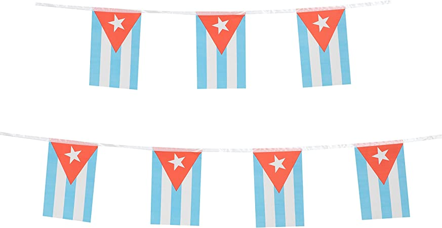 Nautical Themed Fiesta Flags Pennant Banner 10 Feet Long 9 Mini Flags Made of Polyester Cloth Birthday Party Decorations Bunting For Boys Girls