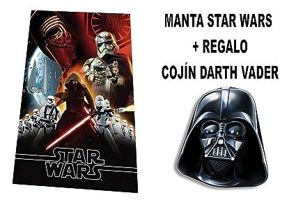 Star Wars Manta Polar + Cojín: Amazon.es: Juguetes y juegos