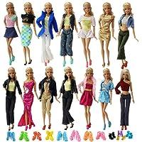 ZITA ELEMENT 10 Set Vêtements Robe + 10 Chaussures pour Poupée Barbie Tenues - Style Aléatoire