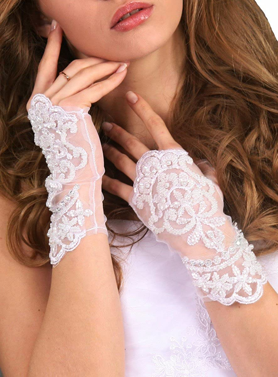 Gants de mariée dentelle et passage pouce