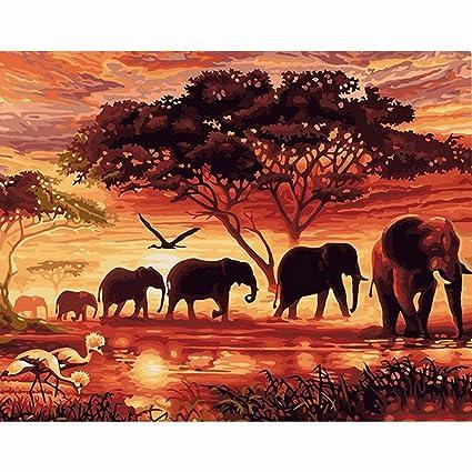 hidrru pintada a mano arte Digital pintura sin marco diy pintado ...