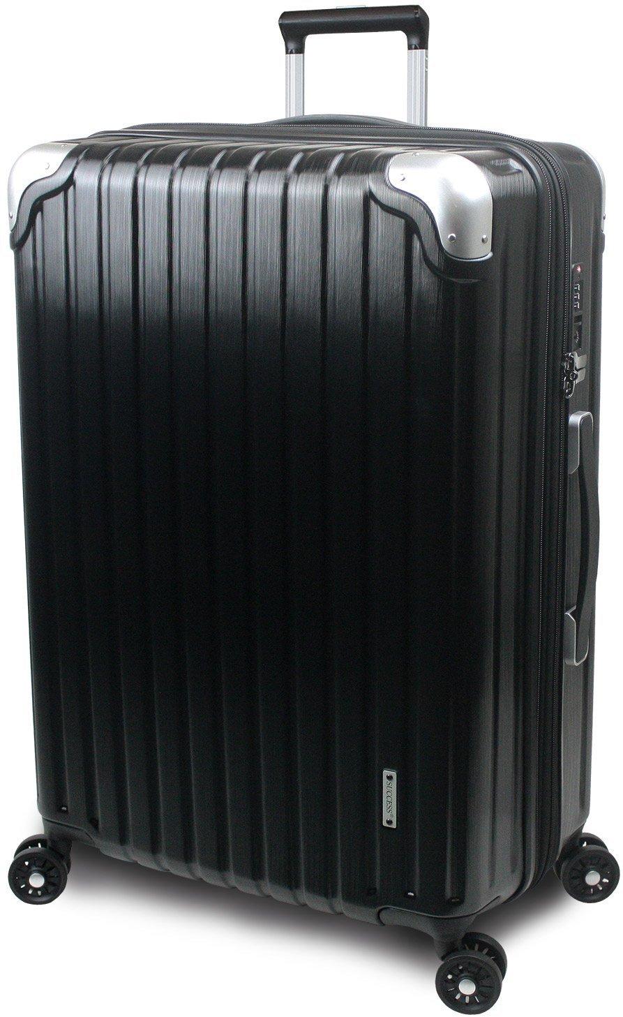 【SUCCESS サクセス】 スーツケース 3サイズ 【 大型 76cm/ジャスト型 70cm/中型 65cm 】 超軽量 TSAロック搭載 【 プロデンス コーナーパットモデル】 B01ELOM2V0 中型 Mサイズ 65cm ブラックヘアライン ブラックヘアライン 中型 Mサイズ 65cm