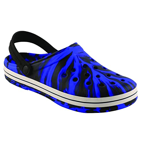 07c978dc7bf Birde Crocs PU Black   Blue Clogs for Mens   Boys  Buy Online at Low Prices  in India - Amazon.in