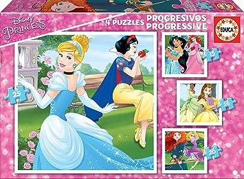 Oferta amazon: Educa- Princesas Disney Conjunto de Puzzles Progresivos, Multicolor (17166)