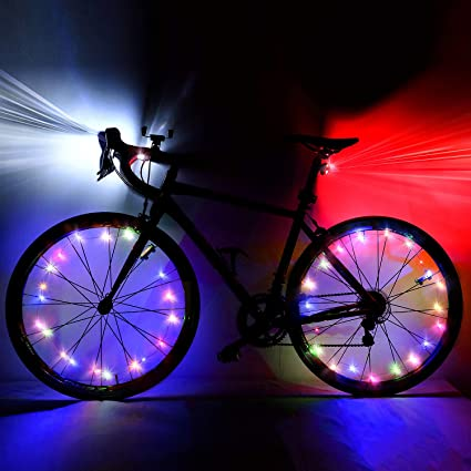 2 LED Front /& Back Bike Bicycle Light Twin Super Bright LEDs Easy Clip On