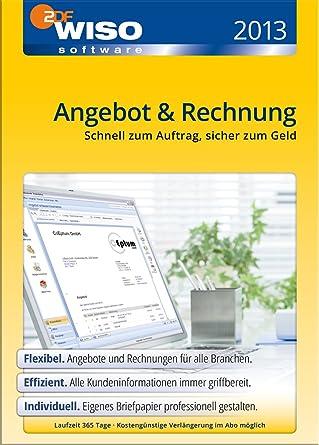 Wiso Angebot Rechnung 2013 Download Amazonde Software