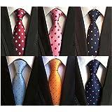 LOLONG ネクタイ6本セット ビジネス セット メンズ