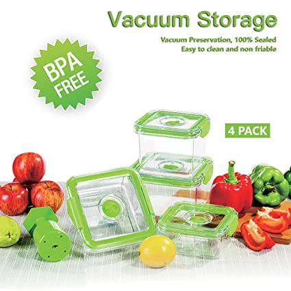 Amazoncom Nicelucky Vacuum Food Container Food or Fruit Storage