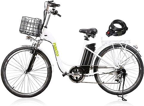 Nakto Bicicletas Eléctricas para Mujer Hombre y Adulto: Amazon.es ...