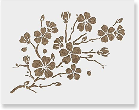 Blooming Blossoms Stencil Durable /& Reusable Mylar Stencils