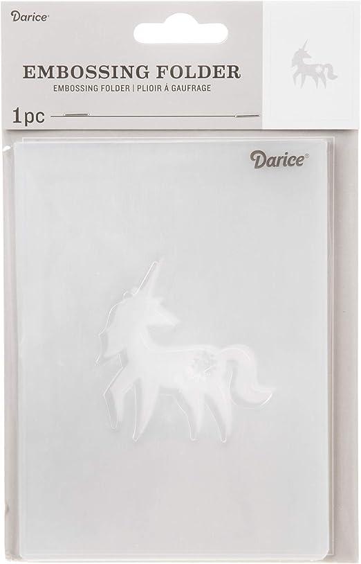 Clear 4.25 x 5.75 inches Embossing Folder Darice Unicorn