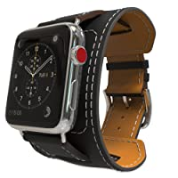 Moko Luxury Genuine Leather Smart Watch Band Cuff Strap Replacement Parent.
