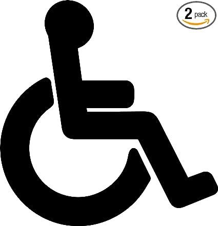 amazon com angdest handicap symbol silhouette black waterproof