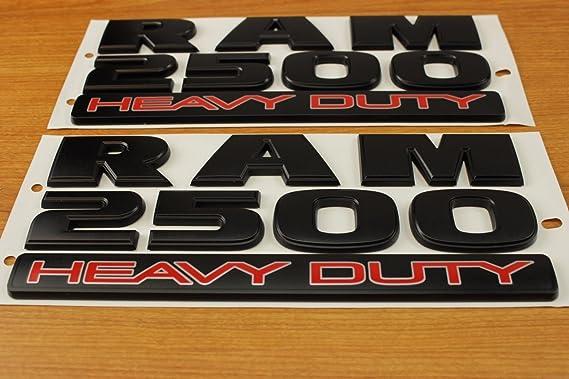 Mopar Set Of Dodge Ram 2500 Heavy Duty Flat Matte Black Door Emblems Oem By Auto
