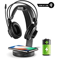 EasyAcc 10W Wireless Charger with Headphone Stand