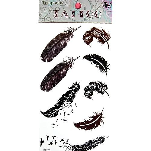 feather tattoos amazon com
