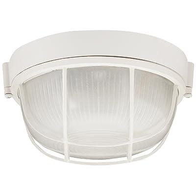 "Trans Globe Lighting 41505 WH Outdoor Aria 7"" Bulkhead, White - Wall Porch Lights - .com"