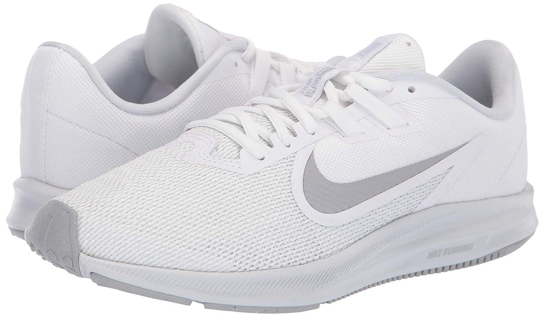 081082151fec0 Nike Women's Downshifter 9 Running Shoe, White/Wolf Grey-Pure Platinum, 6.5  Regular US