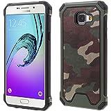 Samsung Galaxy A5 A510 (2016) Handy Tasche Outdoor Case TPU Hybrid Camouflage Hülle Grün